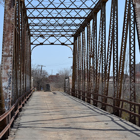 Ohio St. Bridge in Wichita Falls, TX by Cal Johnson - Buildings & Architecture Bridges & Suspended Structures ( old, historical, bridge, walk, city )
