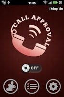 Screenshot of Call Approval