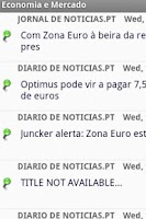 Screenshot of Economia e Mercado