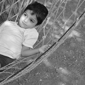 Child on a Hammock !!! by Rushi Chitre - Babies & Children Child Portraits