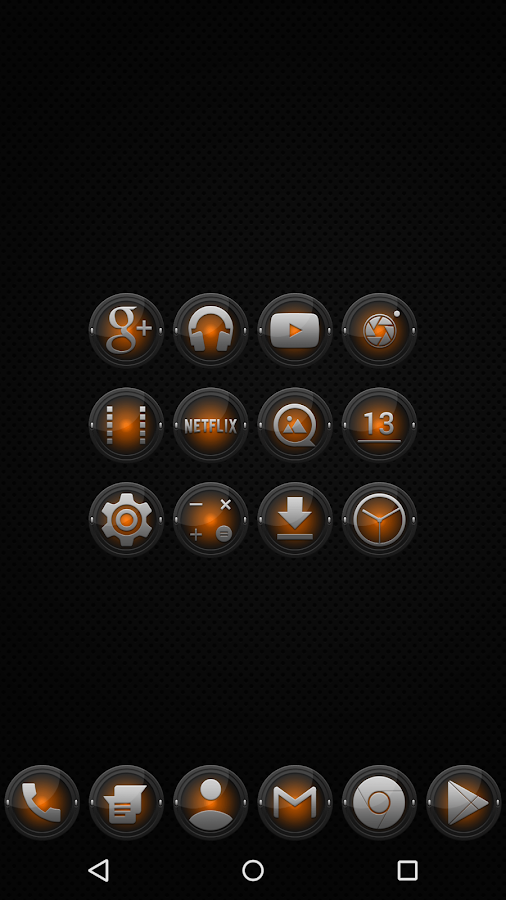 Black and Orange - Icon Pack- screenshot