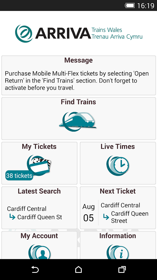 Arriva Trains Wales- screenshot