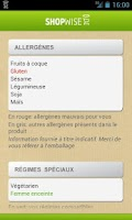 Screenshot of SHOPWISE manger mieux
