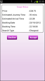 London Minicab App- screenshot thumbnail