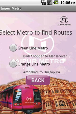 jaipur metro - screenshot