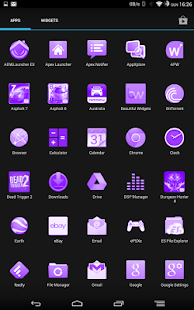 White and Purple Theme - screenshot thumbnail