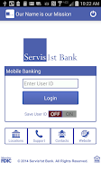 Screenshot of ServisFirst Bank Mobile