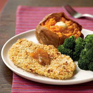 Peanutty Baked Chicken Cutlets.