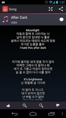 Lyrics for VIXX - screenshot