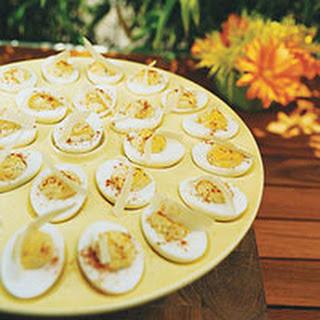 Cesar Deviled Eggs.