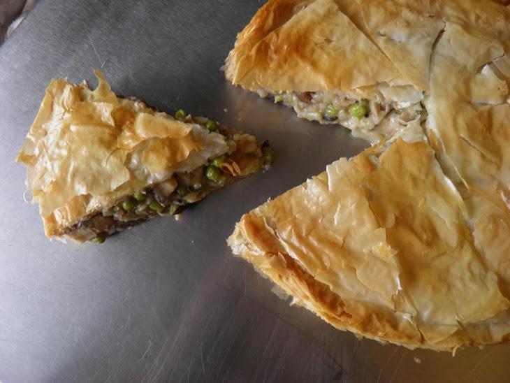 Mushroom and Pea Tart (Vegan Friendly) Recipe