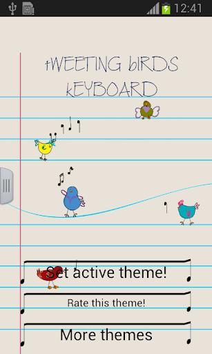 Tweeting Birds Keyboard