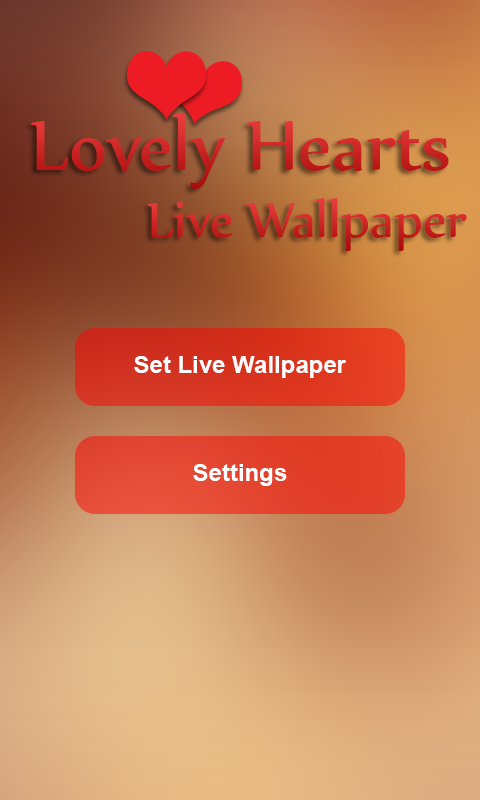 Lovely Hearts Live Wallpaper- screenshot