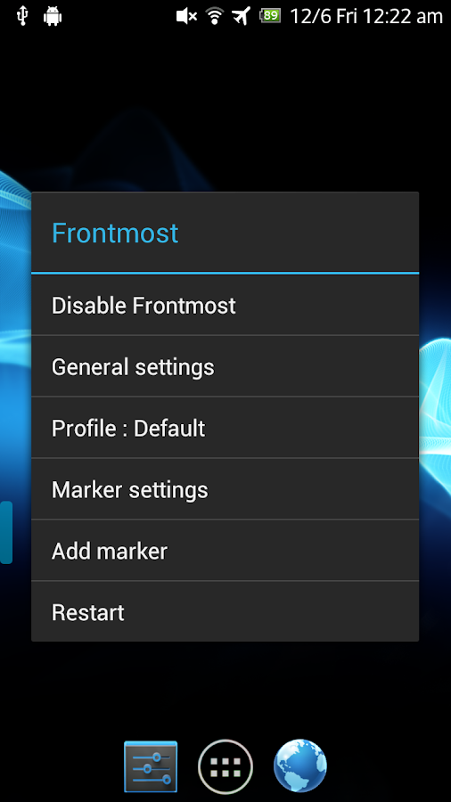 Frontmost- screenshot