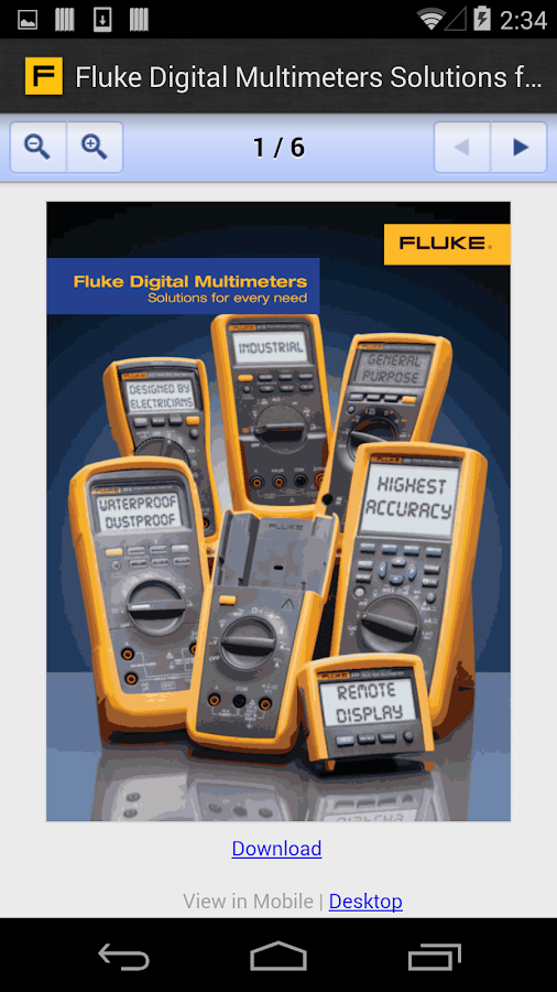 Fluke Virtual Sales Assistant- screenshot