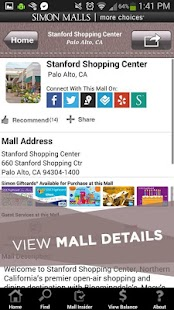 SIMON - Malls, Mills & Outlets - screenshot thumbnail