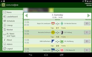 Screenshot of Comunio