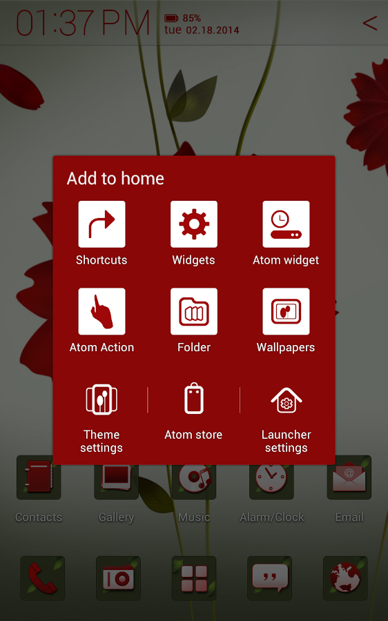 A Flower Atom theme- screenshot