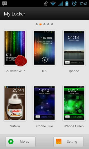 WP7 Go Launcher Ex Locker v1.0