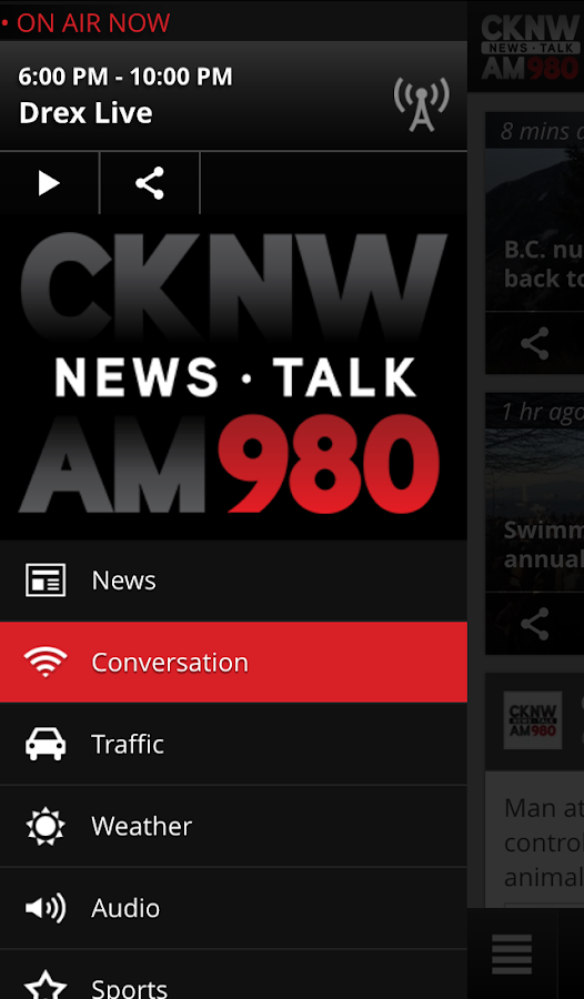 CKNW - News Talk 980 Vancouver- screenshot