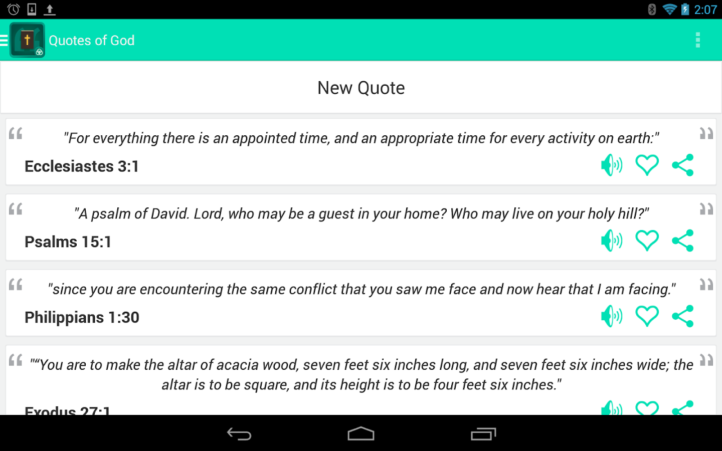 Quotes of God - screenshot