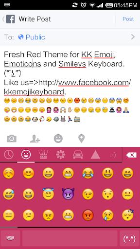 Fresh Red - Emoji Keyboard