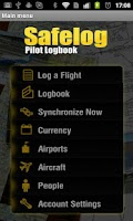 Screenshot of Safelog Pilot Logbook