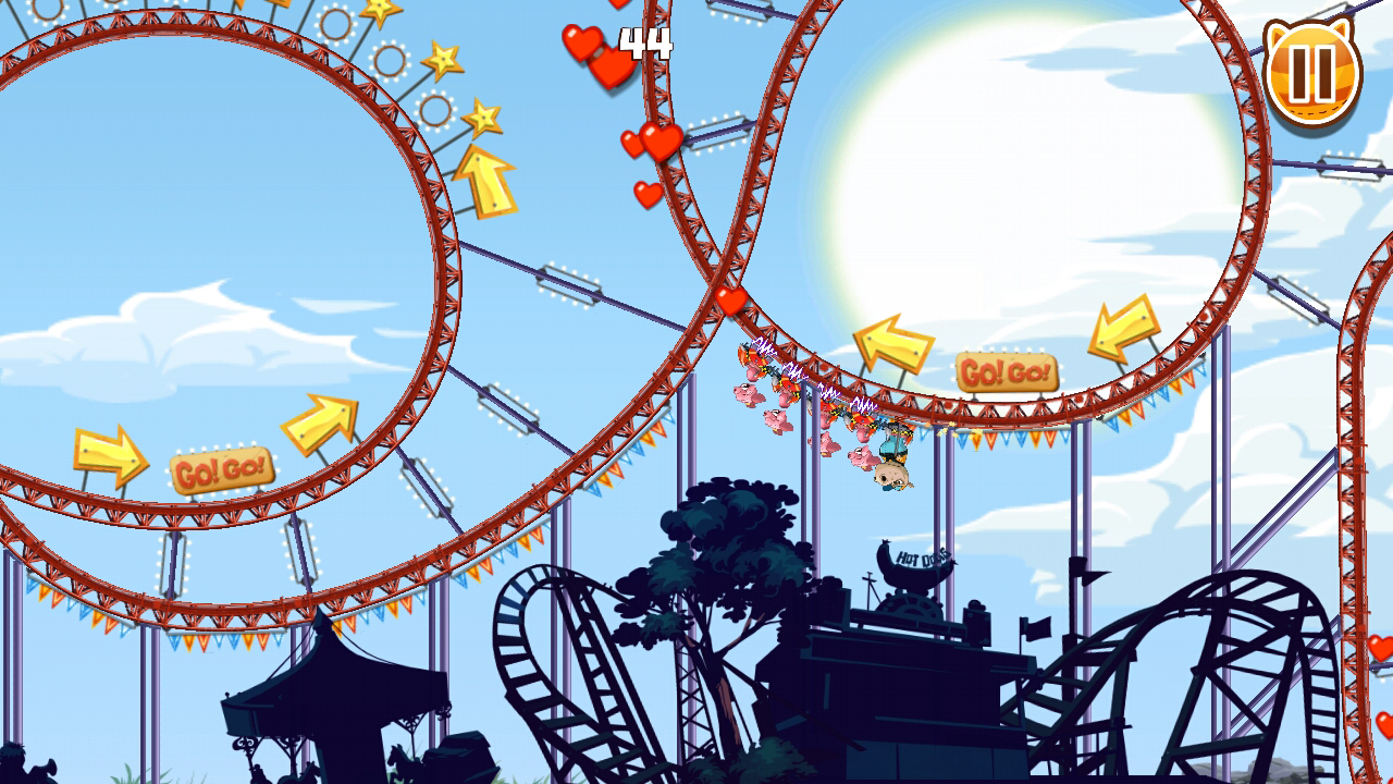 Nutty Fluffies Rollercoaster - screenshot