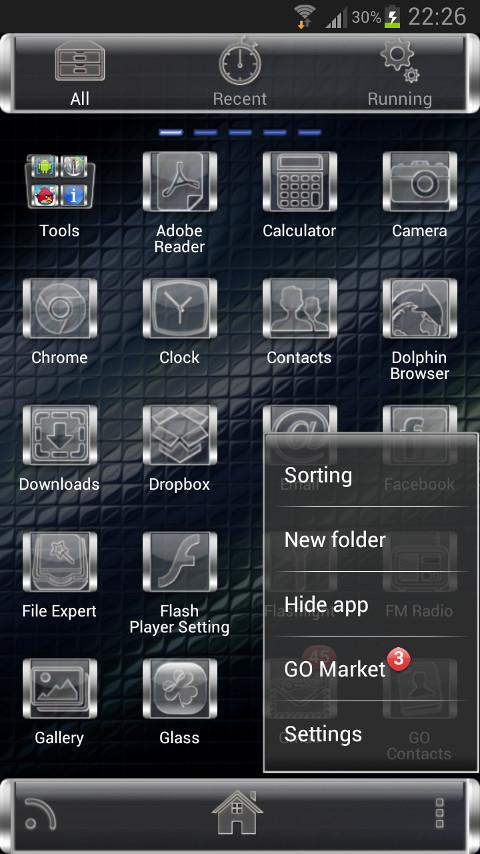 GLASS GO Launcher EX Theme - screenshot