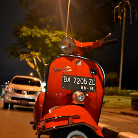 vespa by Alvi Eko Pratama - Transportation Motorcycles ( orange, indonesia, motorcycle, transportation, scooter )