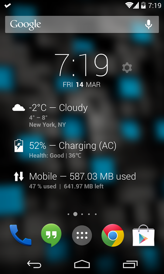 DashClock Data Usage Extension - screenshot