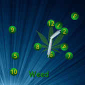 Weed ChaosClock Live Wallpaper