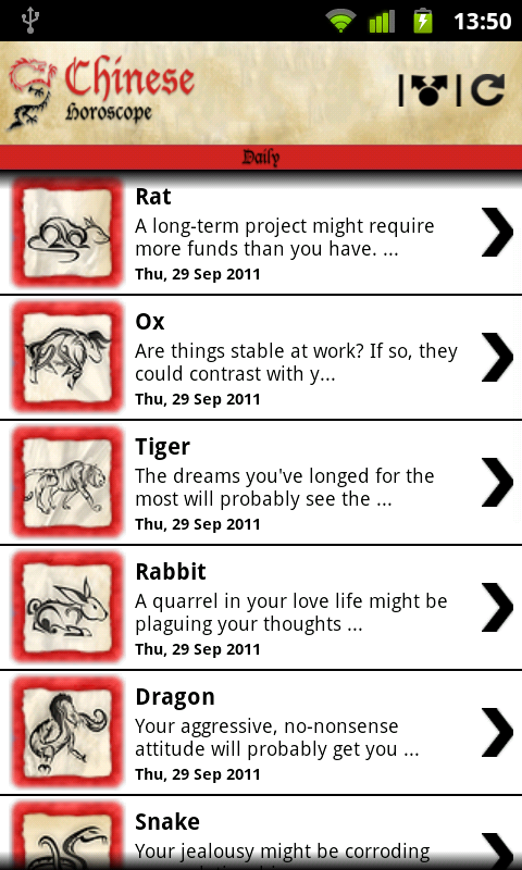 Chinese Horoscope ™- screenshot