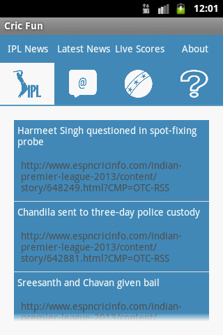 Screenshots for Cricfun Cricket Feed World