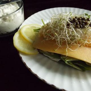 Creamy Papaya Carpaccio Open Faced Sandwich