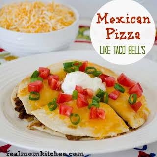 Mexican Pizza {Taco Bell Copycat}.