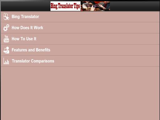 【免費書籍App】Bing Translator: Tips-APP點子