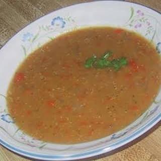 Favorite Lentil Soup.