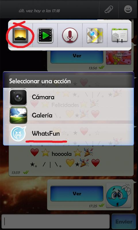 WhatsFun  WhatsApp smileys - screenshot