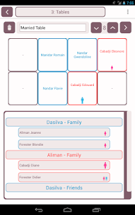 Table plan for wedding - náhled
