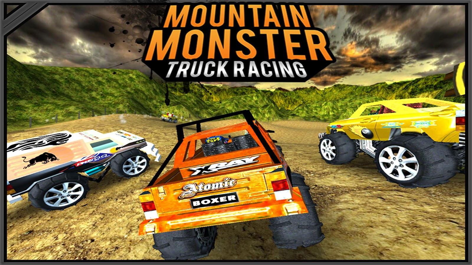 Mountain Monster Truck Racing- screenshot