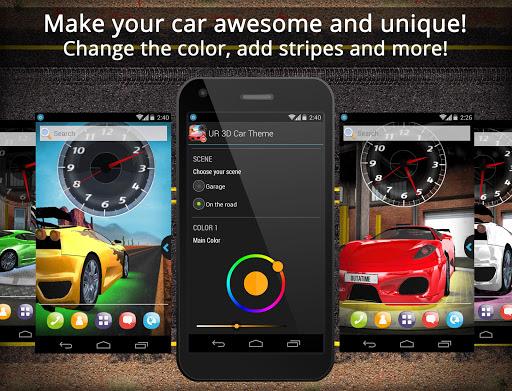 UR 3D Sport Car Live Theme