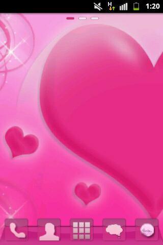GOランチャーEXのテーマはピンクの愛