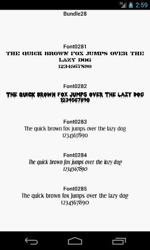 Fonts for FlipFont 28