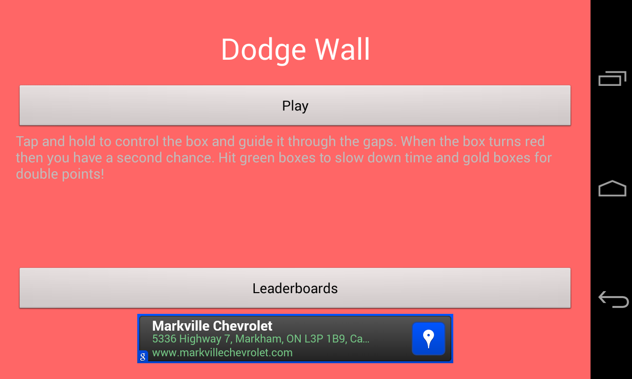 Dodge Wall - screenshot