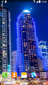 Dubai Night Live Wallpaper screenshot 0