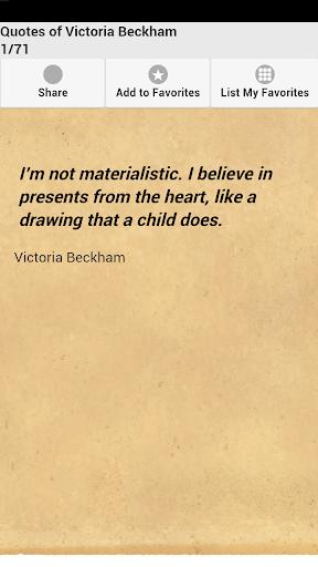 Quotes of Victoria Beckham
