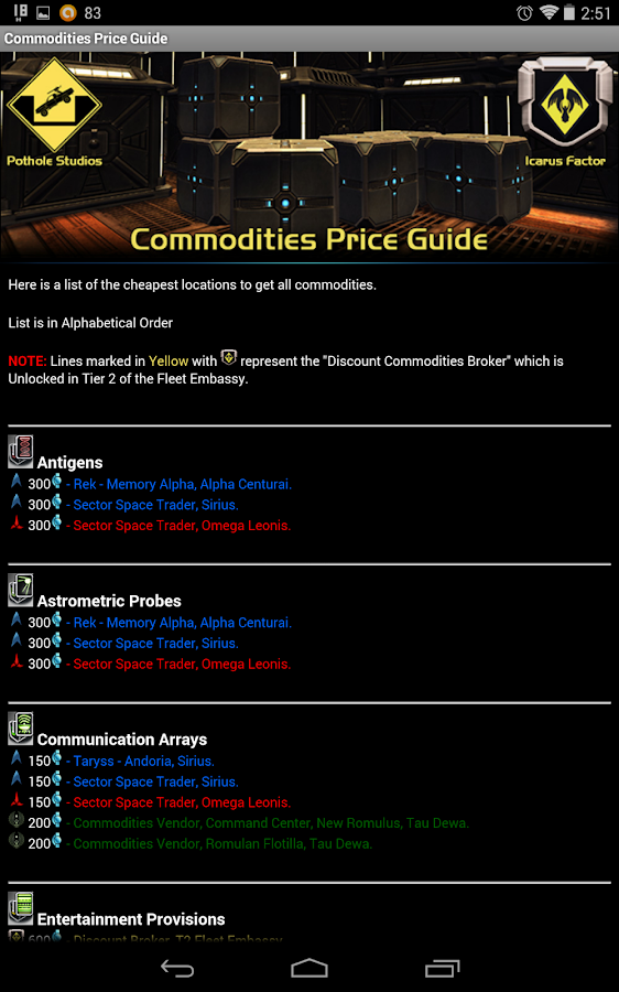STO Guides - screenshot
