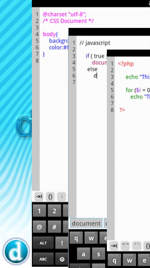 Dividet HTML Editor Lite - screenshot