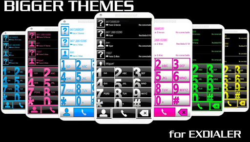 THEME BIG WHITE FOR EXDIALER
